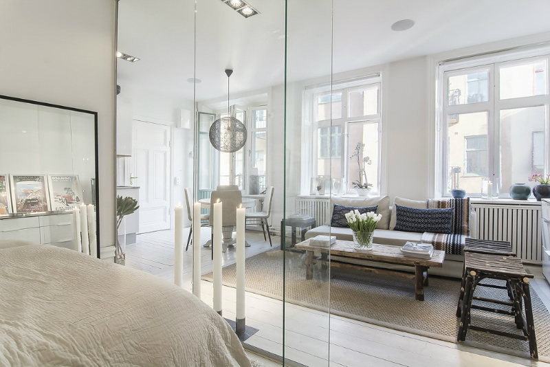 Sleek Clear And Transparent Small Apartment  6