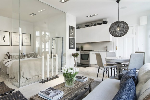 Sleek Clear And Transparent Small Apartment