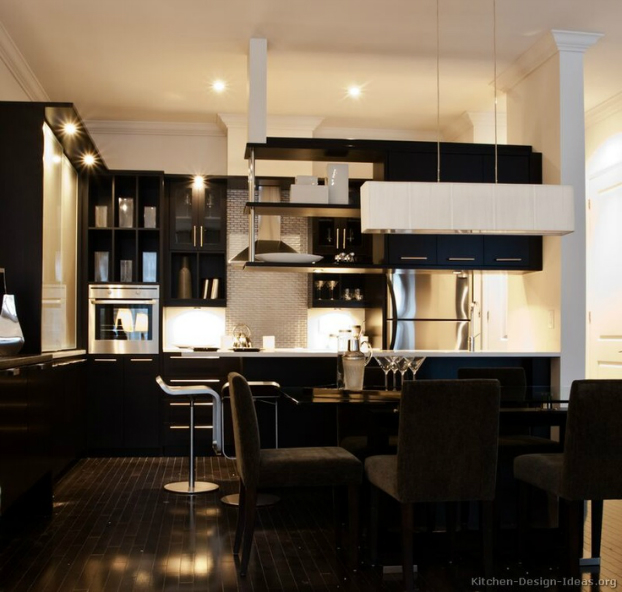 Images Of Black Kitchen Cabinets: 53 Stylish Black Kitchen Designs