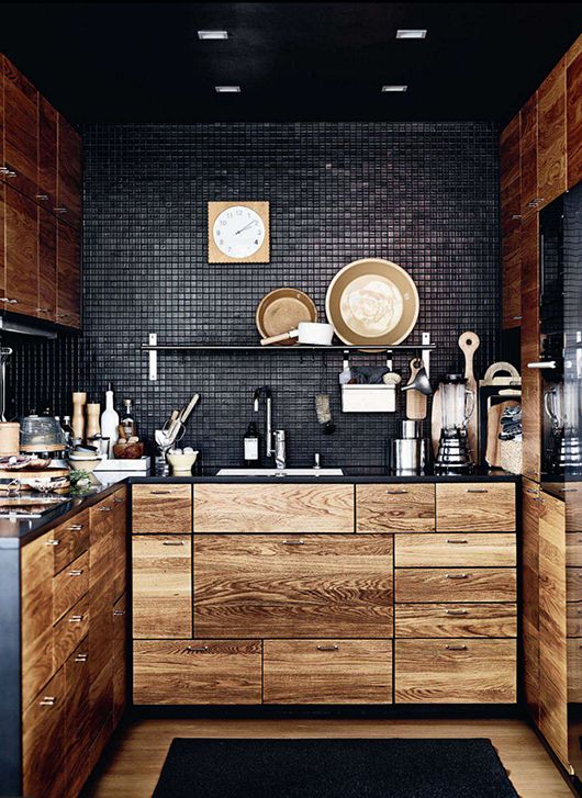 black kitchen design 39