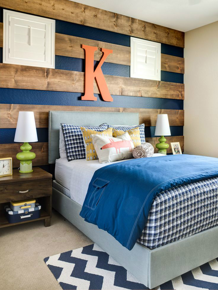 boys bedroom decrating idea wood monogram