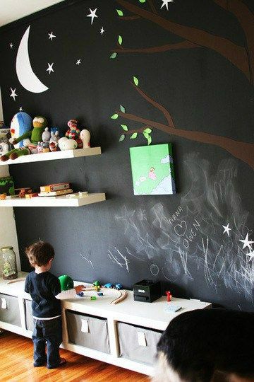 boys bedroom decrating idea chalkboard