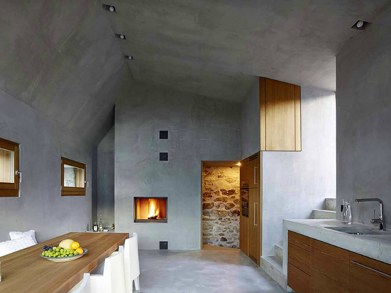 cave house contemporary stone interior 2