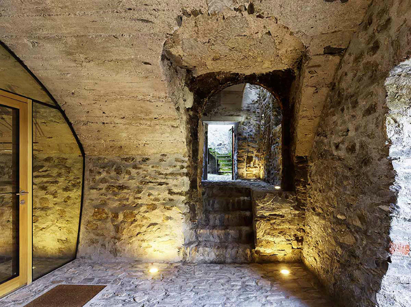 cave house contemporary stone interior 5