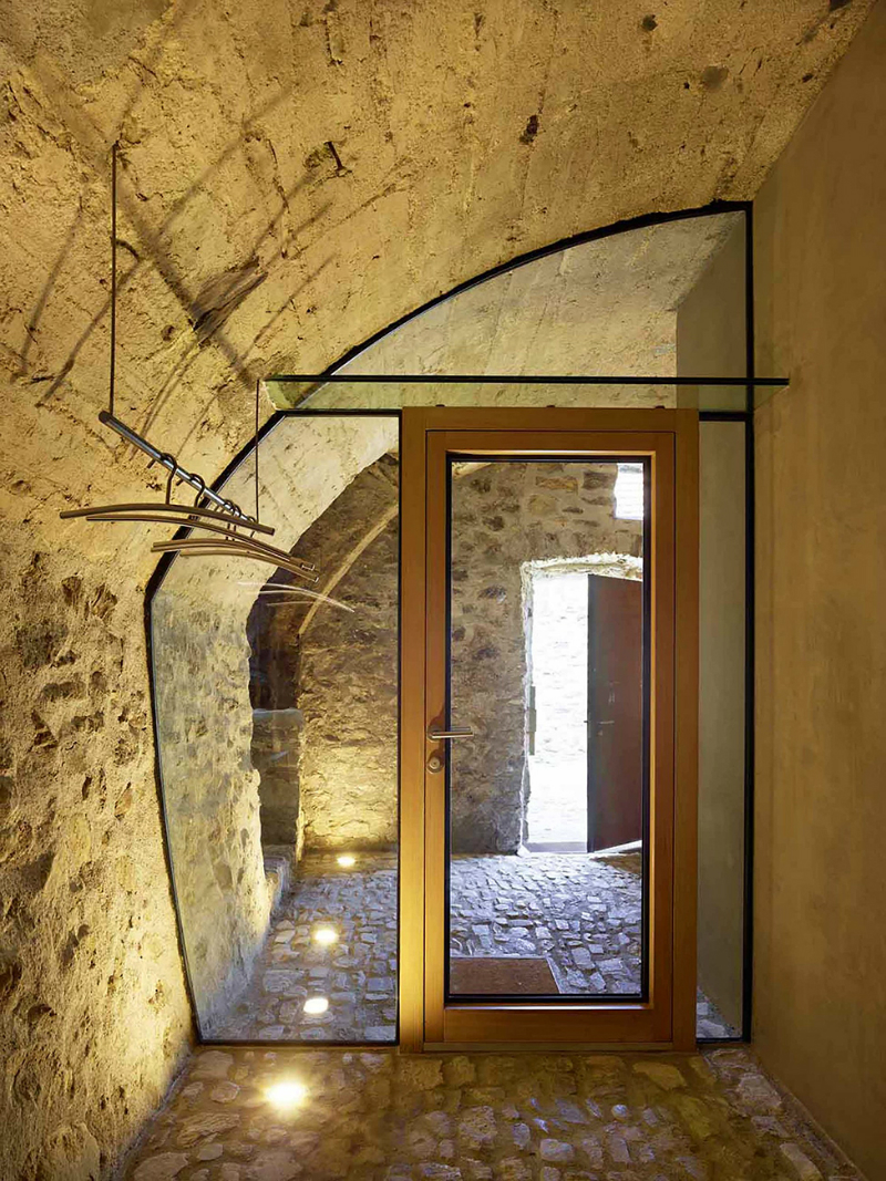 cave house contemporary stone interior 6