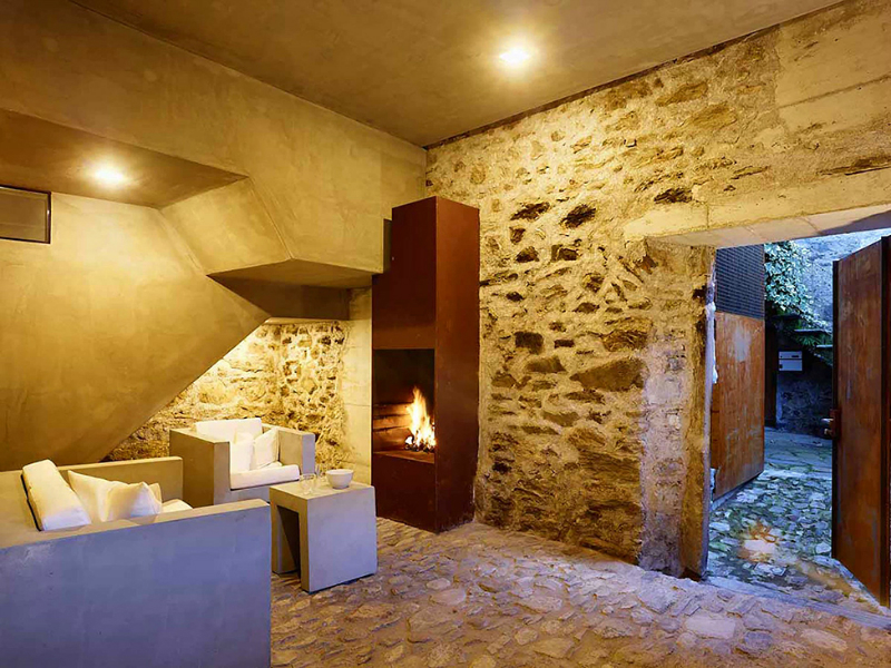 cave house contemporary stone interior 7