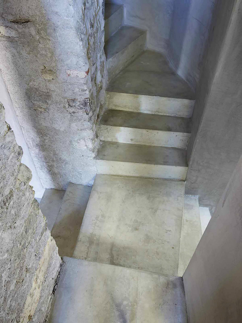 cave house contemporary stone interior 9 staircase