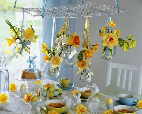 flowers for easter table decoration
