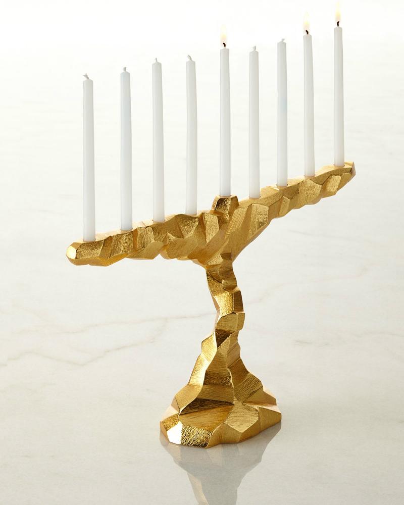 gold Menorah by Michael Aram