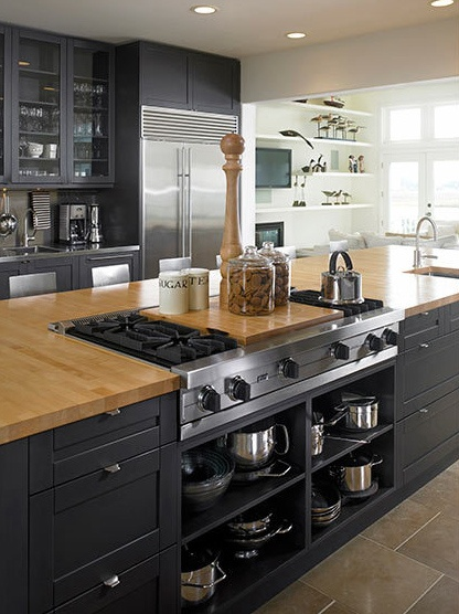 black kitchen design 43