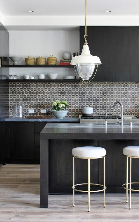 black kitchen design 40