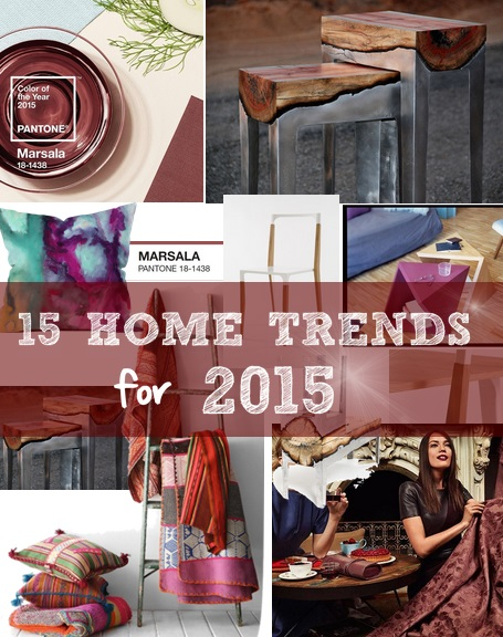 15 home trends for 2015 decoholic for Home decor 2015 trends
