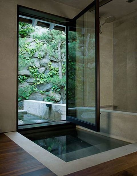 Japanese Style Soaking Tub. Japanese Interior Design ...