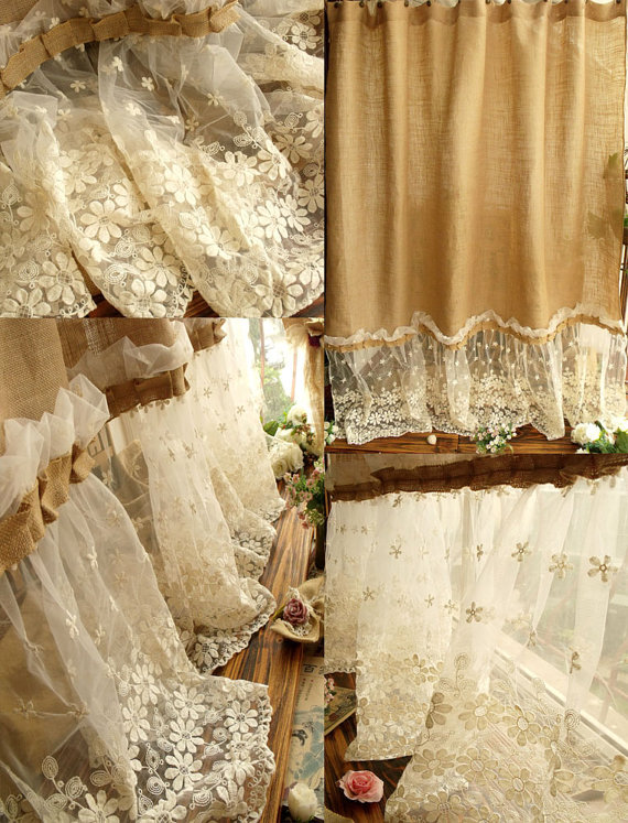 Diy burlap kitchen curtains - Top 20 Shower Curtains Decoholic