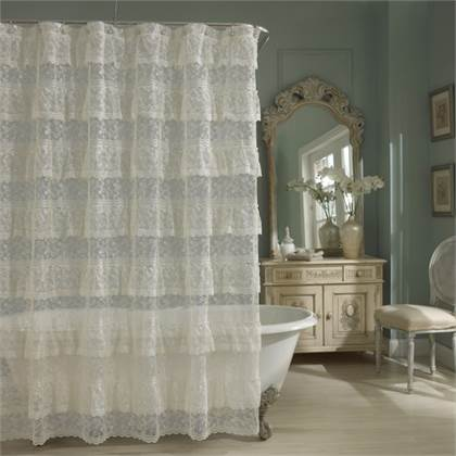 Shabby Chic Lace Shower Curtain