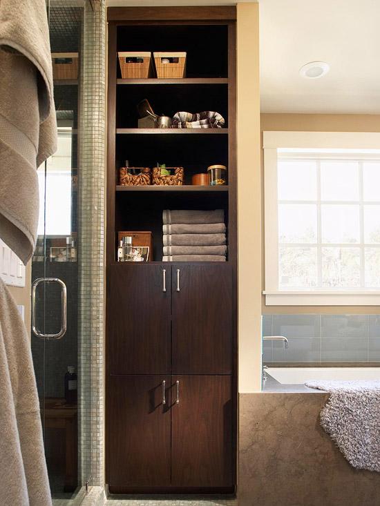 Идеи хранения для ванной комнаты