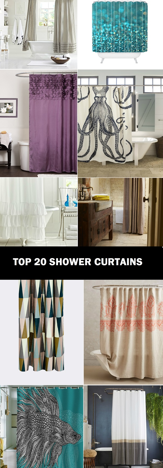 top best shower curtains