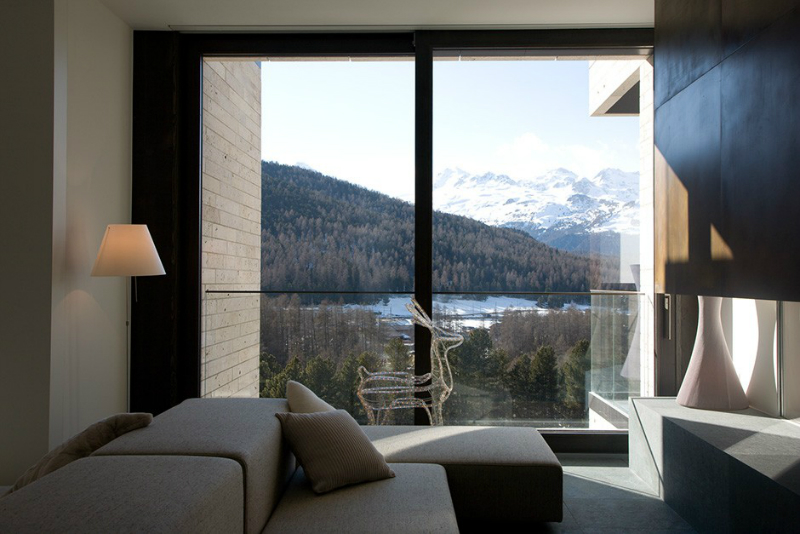 Modern interior With The Typically Warm Atmosphere Of Engadine Style Houses 2