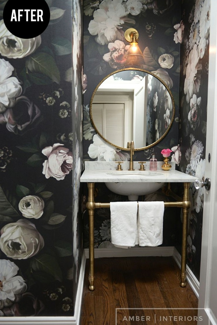 Top 5 Fun And Fresh Bathroom Ideas. Bold Wallpaper
