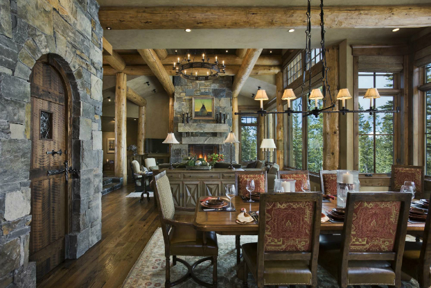 Rustic Home Interior Reid Smith Architects Cowboy Heaven Dining Room Sets Sale Owner