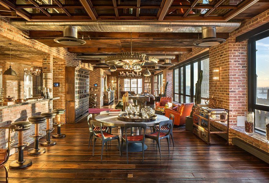 New York vintage industrialdream penthouse