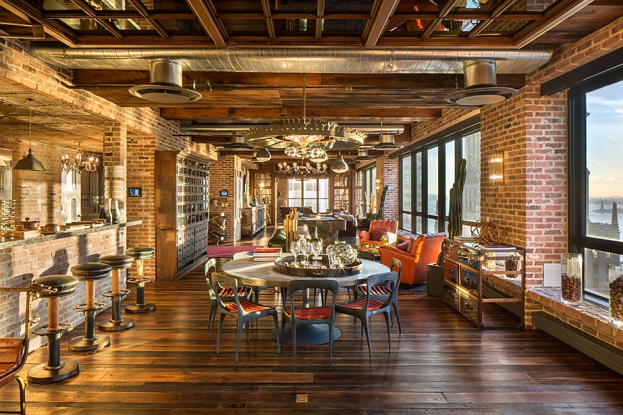 old new york apartments interior. New York vintage industrialdream penthouse A Home That Appeals To Every Taste  Decoholic