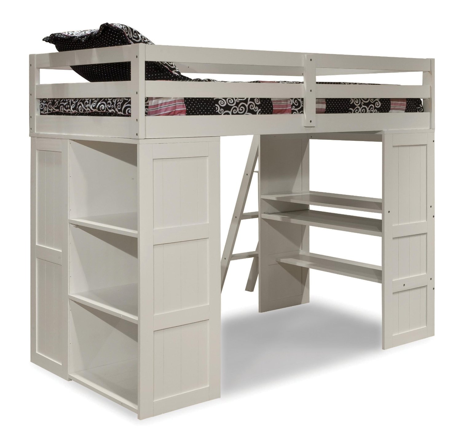 Epic Canwood Skyway Loft Bed with Desk and Storage Tower