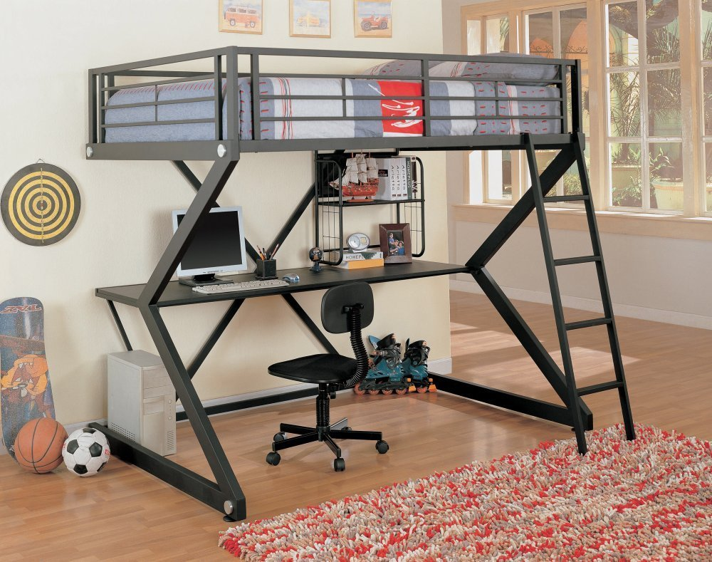 Unique Coaster Loft Bed Full Size Work Station
