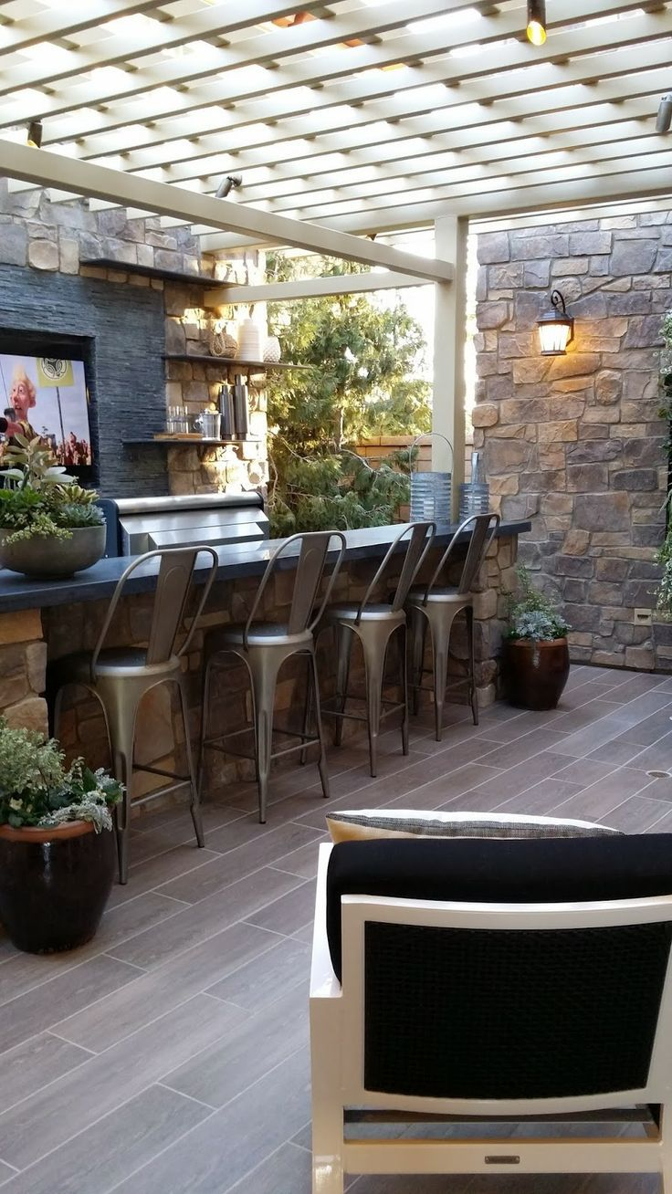 metallic chairs in outdoor sitting area