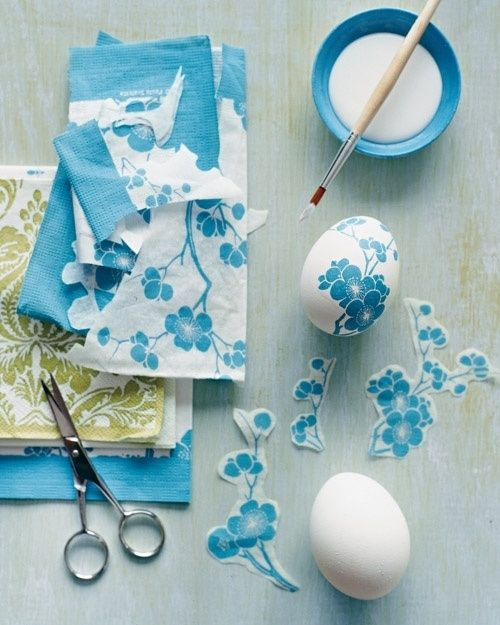 Decoupage Easter Eggs Decorating Ideas