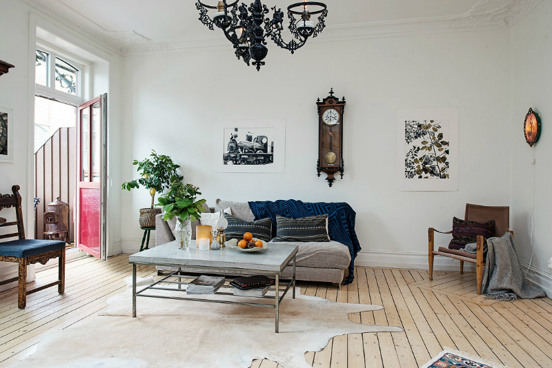 eclectic scandinavian home interior 15