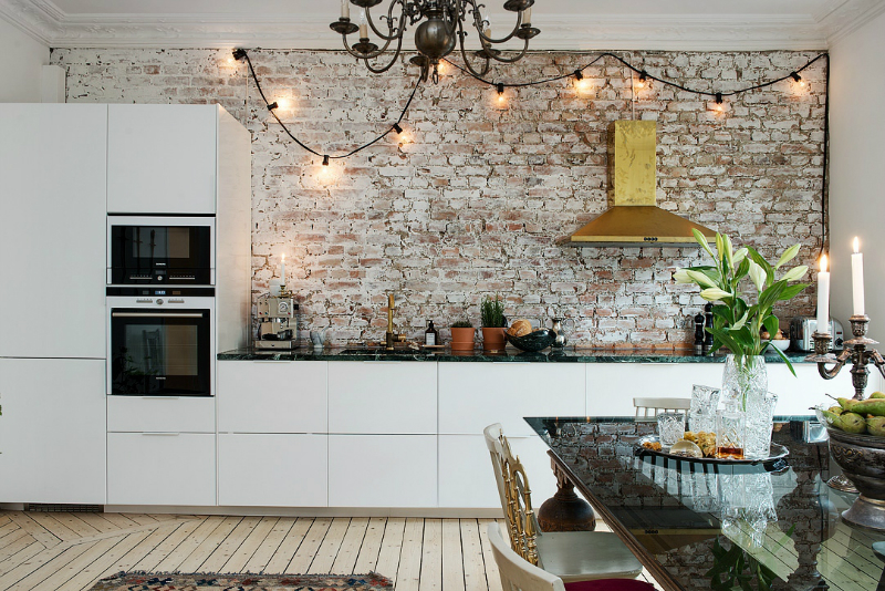 Exposed brick walls radiates charm in any home decoholic - Scandinavian homes the charm of the north ...