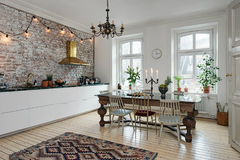 eclectic scandinavian home interior