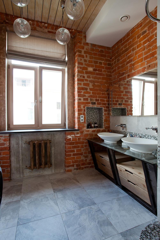 industrial vintage modern apartment interior 9