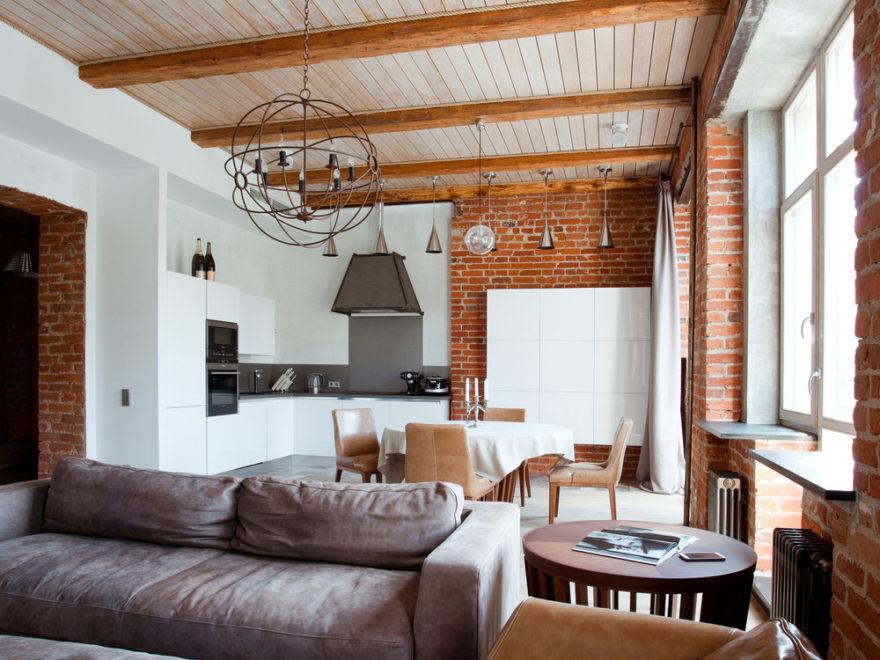 industrial vintage modern apartment interior