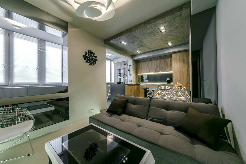 Modern Dramatic Studio Apartment 2