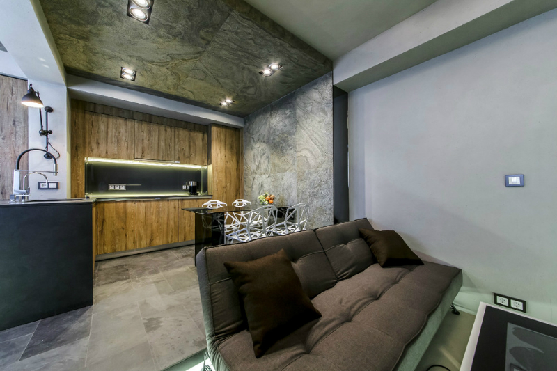 Modern Dramatic Studio Apartment 8