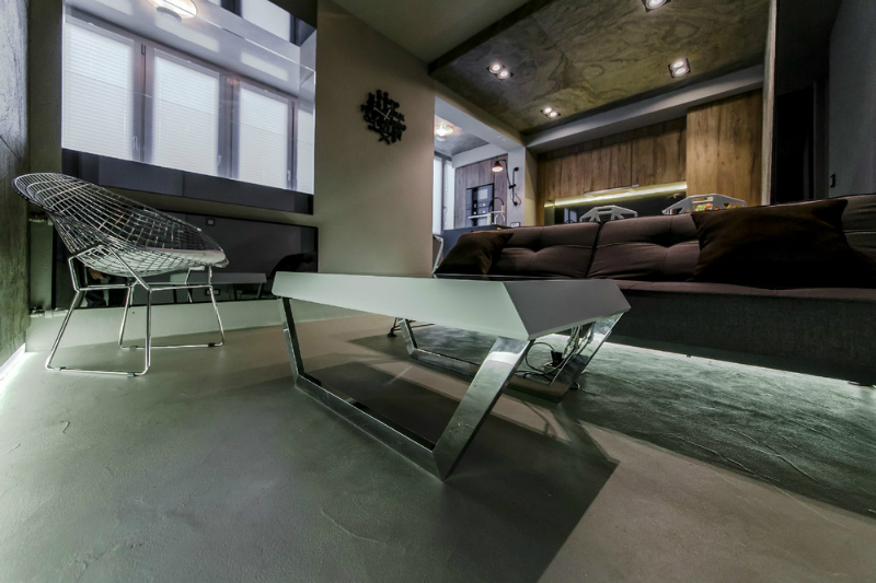Modern Dramatic Studio Apartment 9