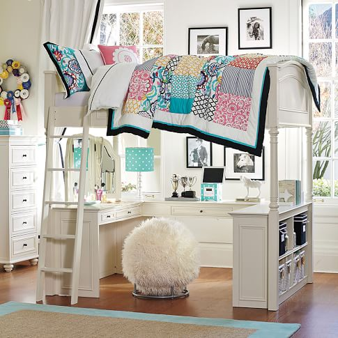 Lovely Chelsea Vanity Loft Bed