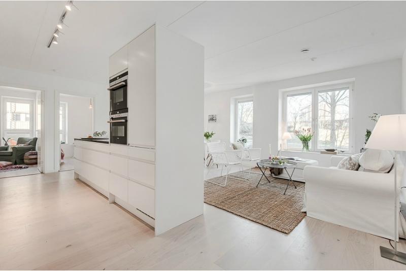 Pure White Scandinavian Interior 8