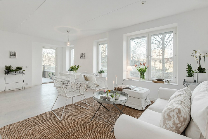 Pure White Scandinavian Interior