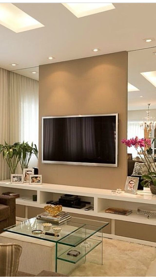 40 tv wall decor ideas decoholic - Home decorating ideas living room walls ...