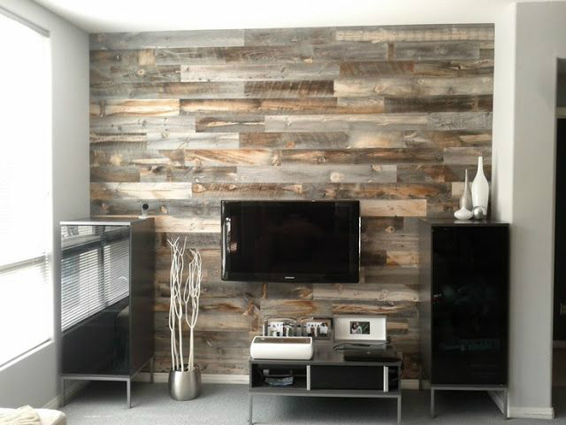 40 tv wall decor ideas decoholic for Wood walls decorating ideas
