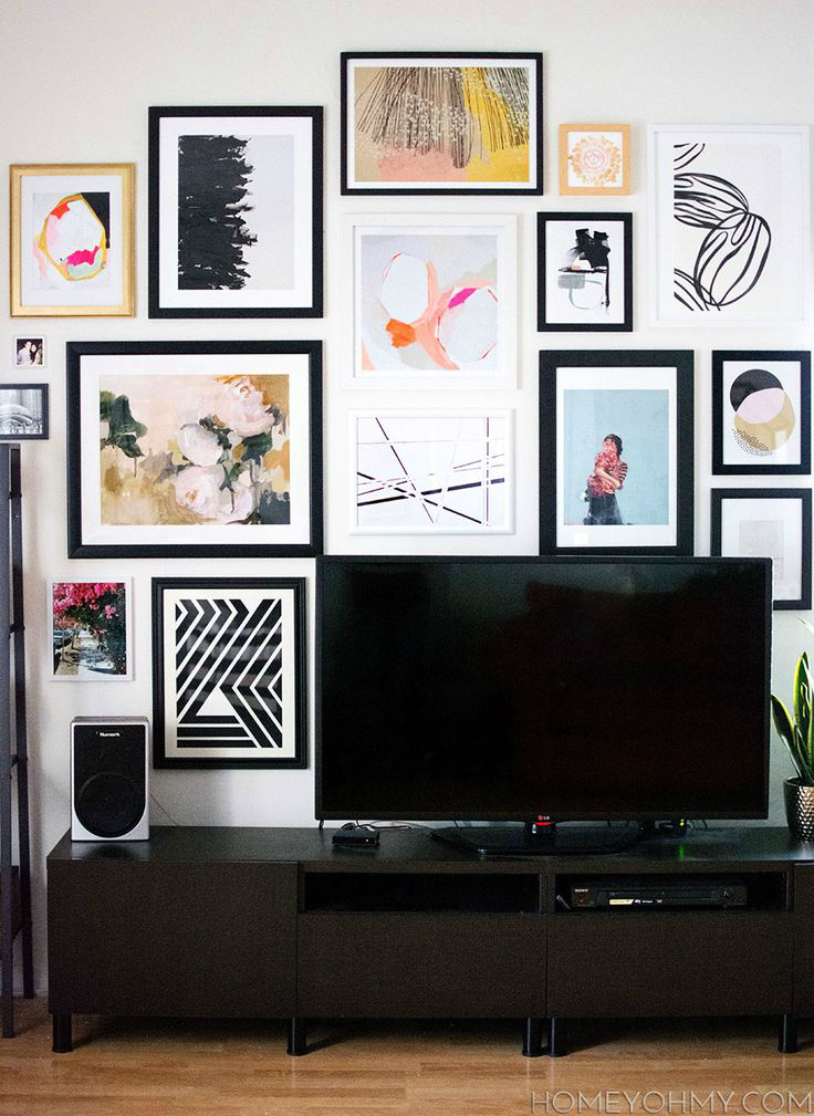 40 tv wall decor ideas decoholic. Black Bedroom Furniture Sets. Home Design Ideas