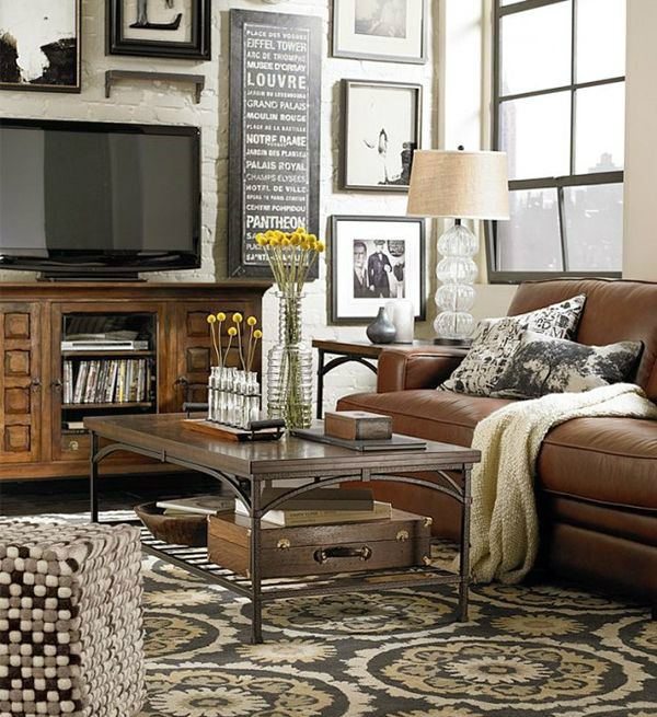 40 tv wall decor ideas decoholic - Decorated walls living rooms ...