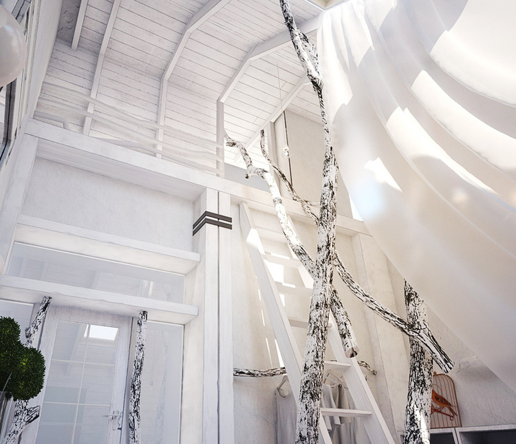 Total White Shophisticated Attic Space 10