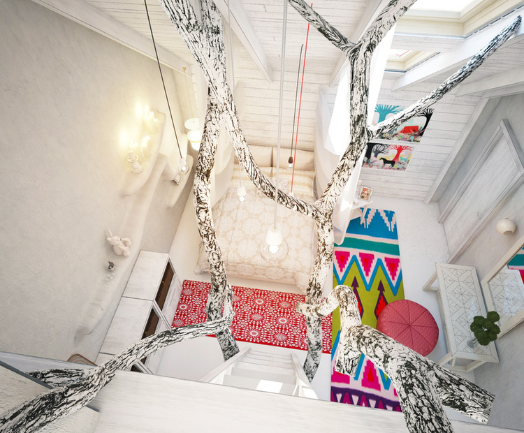 Total White Shophisticated Attic Space 11