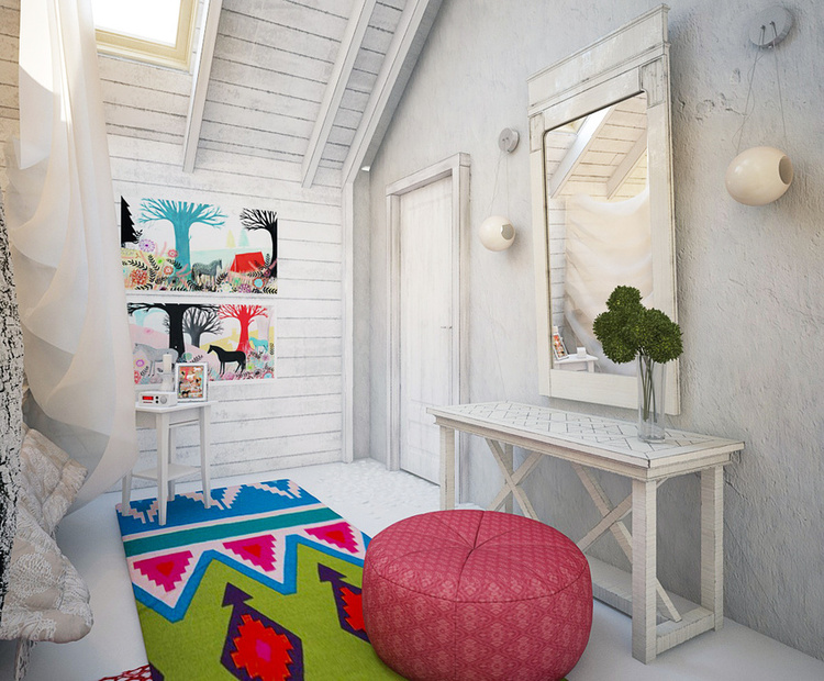 Total White Shophisticated Attic Space 12