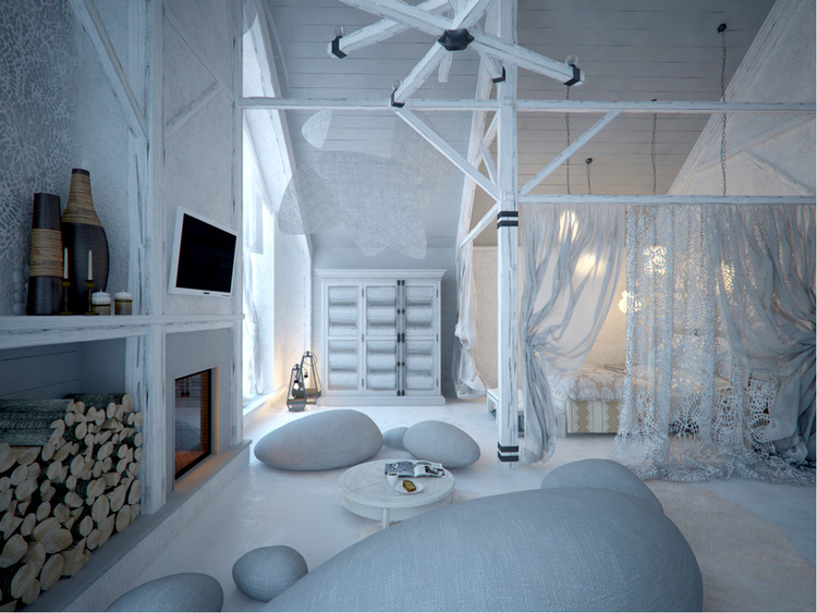 Total White Shophisticated Attic Space 2