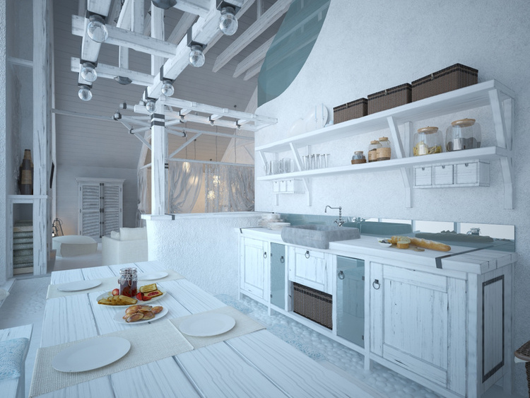 Total White Shophisticated Attic Space 4